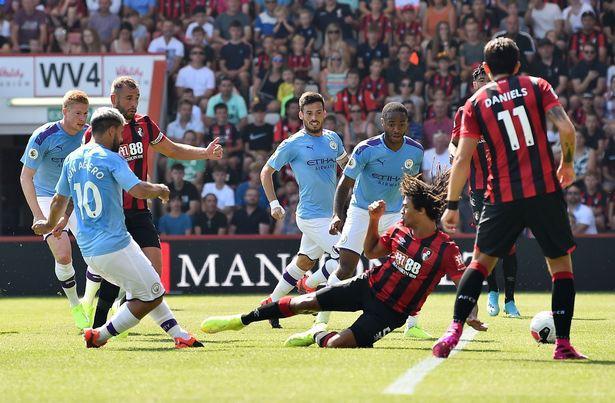 Thắng đậm Bournemouth, Man City áp sát Liverpool - Ảnh 1.