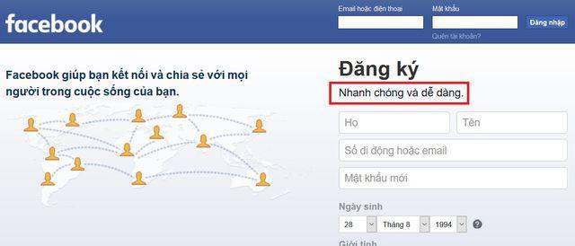 """Facebook âm thầm thay đổi khẩu hiệu, không còn """"miễn phí"""" như trước - Ảnh 2."""