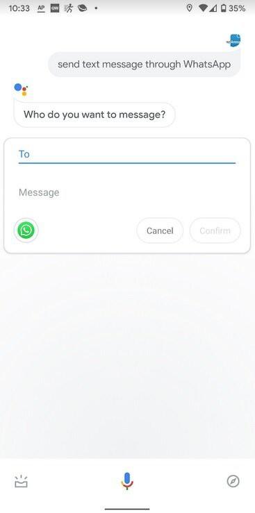 Google Assistant đã hỗ trợ ứng dụng nhắn tin WhatsApp - Ảnh 1.