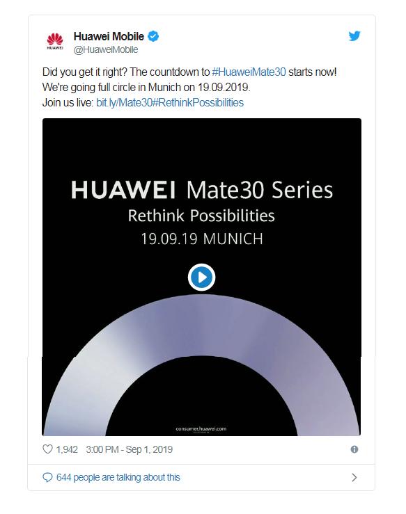 Huawei quyết ra mắt Mate 30 dù không có quyền sử dụng dịch vụ của Google - Ảnh 1.