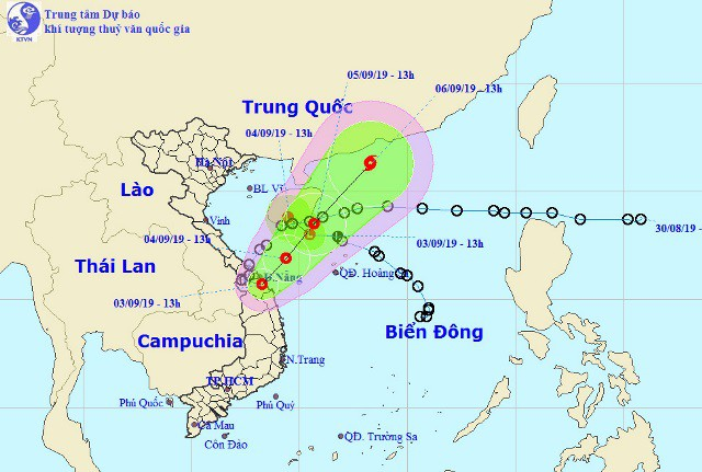 The position and movement of the two tropical depressions. (nchmf.gov.vn)