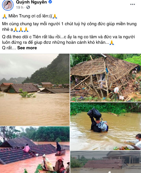 Dàn diễn viên Việt xót xa cho miền Trung bão lũ - Ảnh 2.