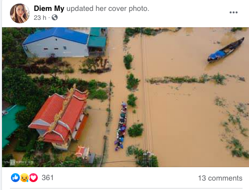 Dàn diễn viên Việt xót xa cho miền Trung bão lũ - Ảnh 3.