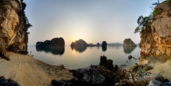 Beautiful sunset in Ba Hang (Photo: baoquangninh.com.vn)