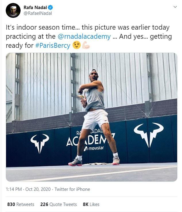 Rafael Nadal xác nhận sẽ tham dự Paris Masters - Ảnh 1.