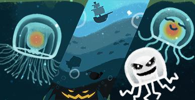 Chú mèo phép thuật trở lại chào đón Halloween trên Google - Ảnh 2.