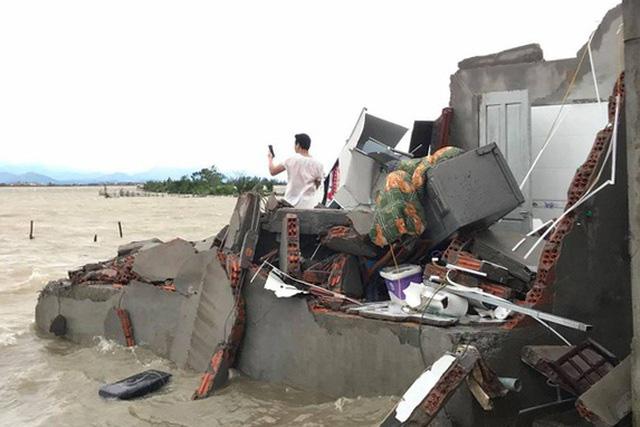 Bão số 13 làm cây đổ ngổn ngang, nhà tốc mái, tàu cá bị đánh chìm - Ảnh 3.
