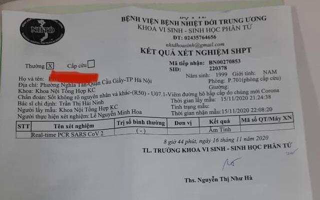 (Cập nhật) Bệnh nhân ở Hà Nội vừa phát hiện dương tính lại có kết quả xét nghiệm âm tính với SARS-CoV-2 - Ảnh 1.