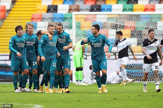 Udinese 1-2 AC Milan: Ibrahimovic lập siêu phẩm, Milan vững ngôi đầu - Ảnh 5.