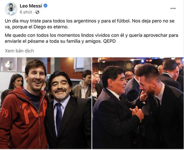 Các ngôi sao thế giới tiếc thương huyền thoại Maradona - Ảnh 2.