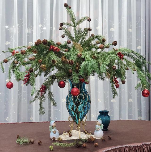 Chưa tới Noel, người dân Hà Nội đã săn lùng thông tươi về cắm - ảnh 1