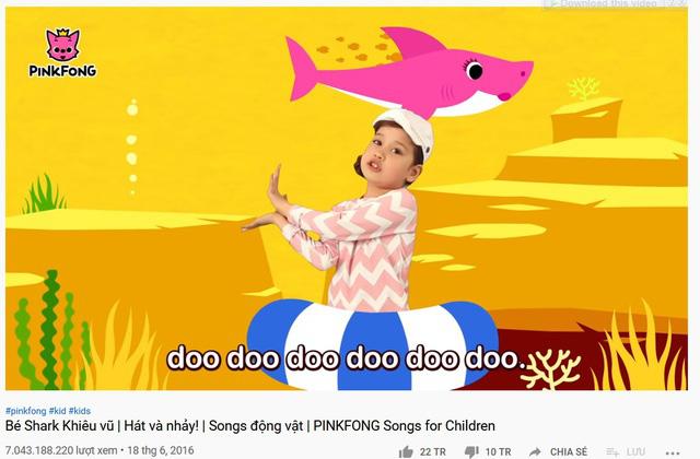 """""""Hạ gục"""" Despacito, Baby Shark trở thành video có lượt xem cao nhất YouTube - ảnh 1"""