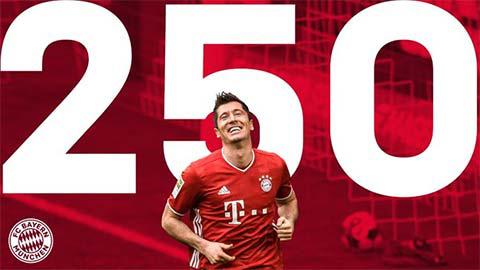 Lewandowski cán mốc 250 bàn tại Bundesliga - Ảnh 1.