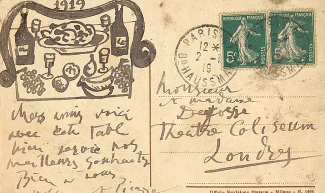 Tấm bưu thiếp độc đáo của Picasso sẽ được bán với giá hơn 900 triệu đồng - Ảnh 1.