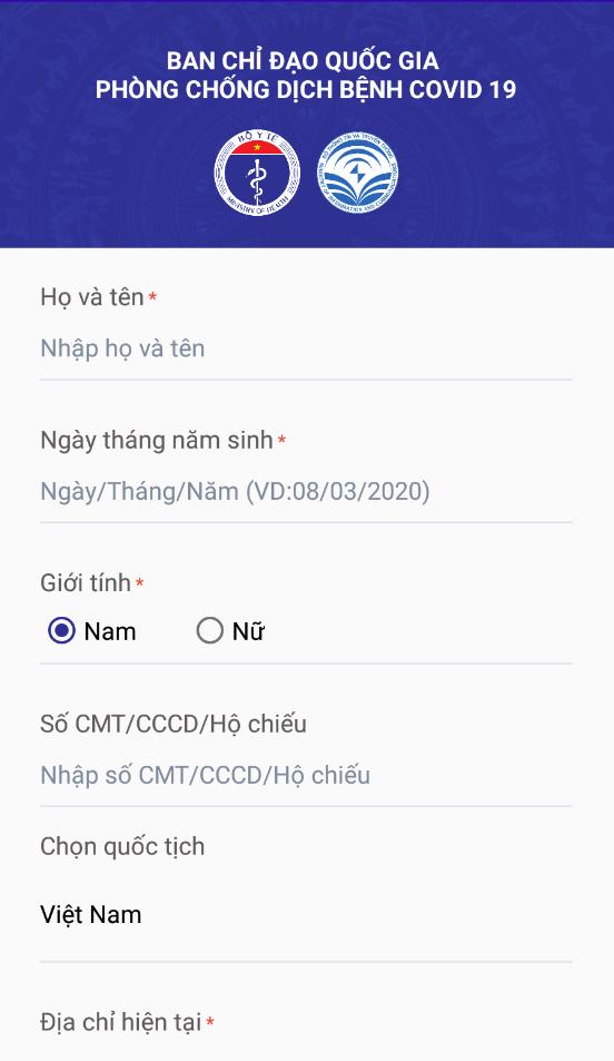 Hướng dẫn 10 bước khai báo y tế qua app NCOVI trên di động - Ảnh 2.