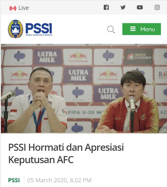 Liên đoàn bóng đá Indonesia thông báo hoãn các trận vòng loại World Cup 2022 trong tháng 3 - Ảnh 1.