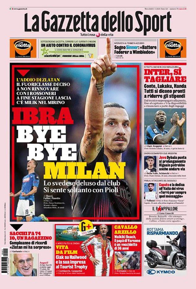 Ibrahimovic đã sẵn sàng chia tay AC Milan - Ảnh 1.