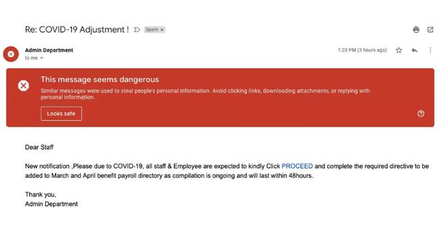 Google phát hiện hơn 18 triệu email lừa đảo liên quan đến COVID-19 mỗi ngày - Ảnh 1.
