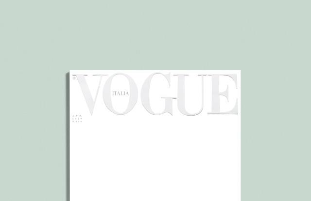 Lần đầu tiên trong lịch sử: Ấn phẩm Vogue Italy để trang bìa trắng tinh - Ảnh 1.