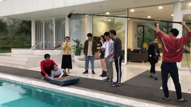 Nhà trọ Balanha: Sự thật cảnh quay Nhiên nằm trong vali, rơi xuống bể bơi - Ảnh 5.