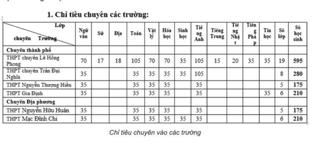 TP.HCM tuyển 1.645 học sinh vào lớp 10 chuyên năm học 2020-2021 - Ảnh 2.