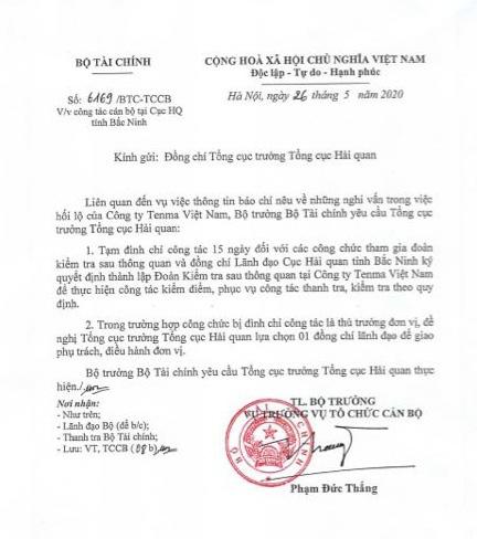 Nghi vấn công ty Nhật hối lộ tại Bắc Ninh: Tạm đình chỉ nhiều lãnh đạo thuế và hải quan - Ảnh 2.