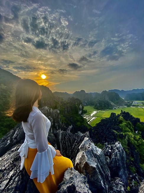 Mùa lúa vàng đẹp đến nao lòng ở vùng Tam Cốc - ảnh 3