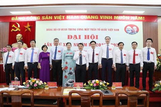 Ông Hầu A Lềnh tái đắc cử Bí thư Đảng bộ cơ quan Trung ương MTTQ Việt Nam - Ảnh 1.