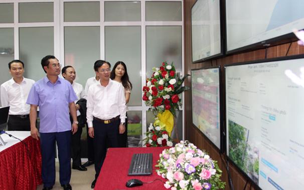 Khai trương Trung tâm giám sát điều hành đô thị thông minh tại Thái Nguyên - Ảnh 1.