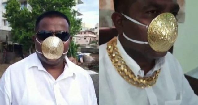 """""""Nở rộ"""" khẩu trang đính kim cương, vàng tại Ấn Độ - Ảnh 2."""