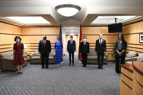 Vietnamese and US diplomats at the July 10 reception