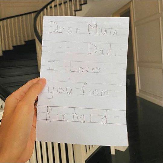 Tăng Thanh Hà khoe bức thư siêu đáng yêu của con trai - Ảnh 1.