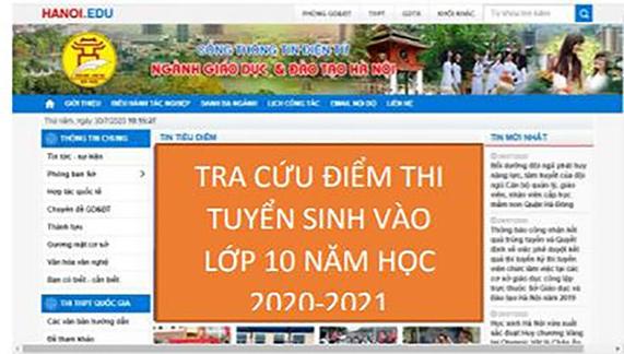 Tra cứu điểm thi vào lớp 10 THPT tại Hà Nội năm học 2020-2021 ở đâu? - Ảnh 1.