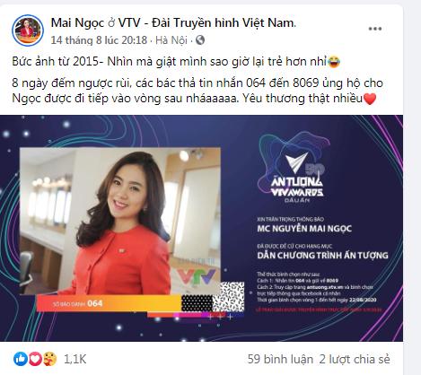 Mai Ngọc, Thái Trang kêu gọi bình chọn tại VTV Awards 2020 - Ảnh 1.