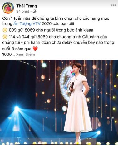 Mai Ngọc, Thái Trang kêu gọi bình chọn tại VTV Awards 2020 - Ảnh 2.