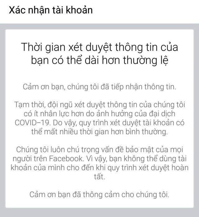 Nhiều người dùng Facebook tại Việt Nam bị khóa tài khoản không rõ lý do - Ảnh 2.