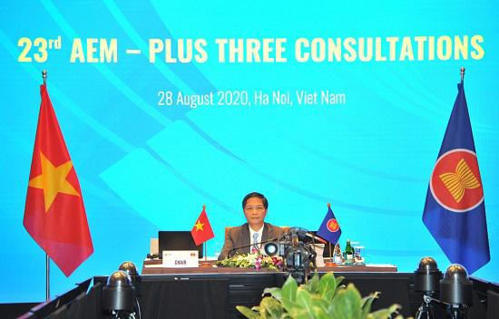 Hội nghị tham vấn trực tuyến về hợp tác kinh tế giữa ASEAN+3 thống nhất nhiều nội dung quan trọng - Ảnh 1.