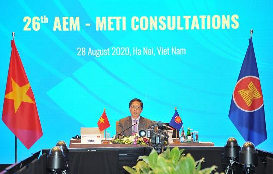 Bộ trưởng Kinh tế ASEAN - Nhật Bản tái khẳng định cam kết cùng hành động nhằm giảm bớt tác động tiêu cực của đại dịch - Ảnh 1.
