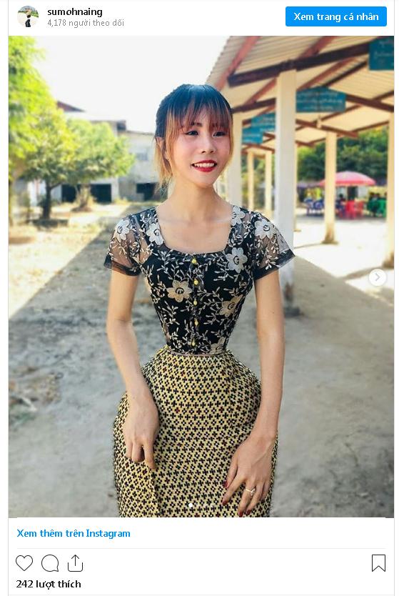 Cô gái Myanmar gây sốc với vòng eo siêu nhỏ: 34.7cm - Ảnh 2.
