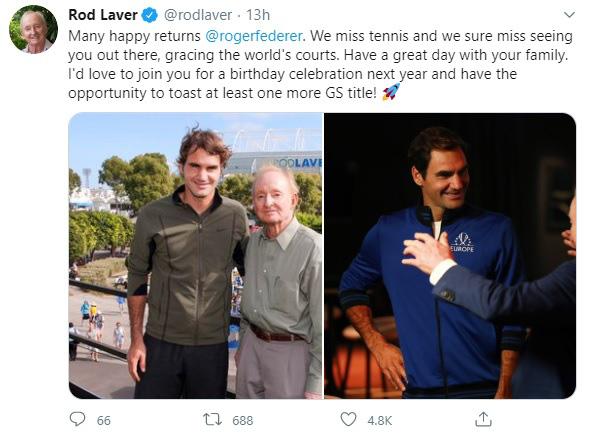 Những lời chúc mừng sinh nhật dành cho Roger Federer - Ảnh 1.
