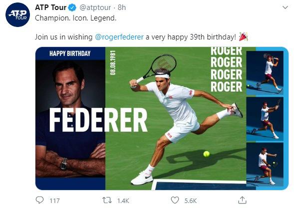 Những lời chúc mừng sinh nhật dành cho Roger Federer - Ảnh 3.