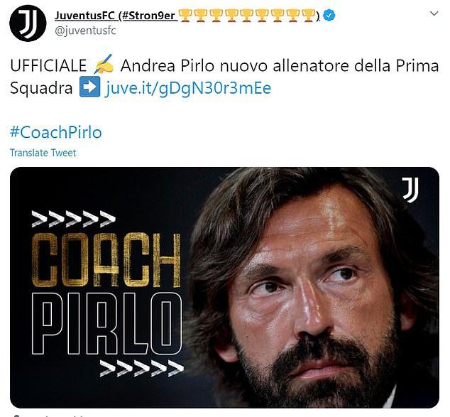 CHÍNH THỨC: Juventus bổ nhiệm Pirlo làm HLV trưởng sau vài giờ sa thải Sarri - Ảnh 1.