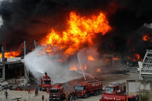 Lại xảy ra hỏa hoạn tại khu vực cảng Beirut, 1 tháng sau vụ nổ kinh hoàng - Ảnh 1.