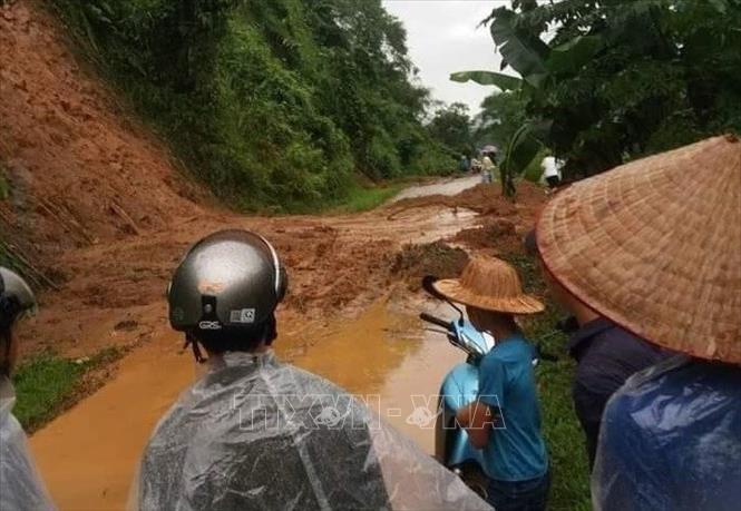 Heavy rains cause landslides in Khai Trung Commune, Luc Yen District, Yen Bai Province. (Photo: VNA)