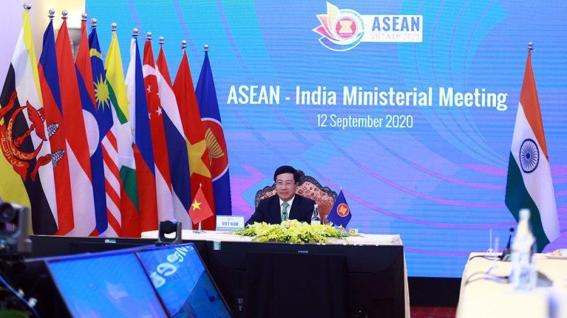 Deputy PM Pham Binh Minh at the ASEAN-India Ministerial Meeting (Photo: VGP)
