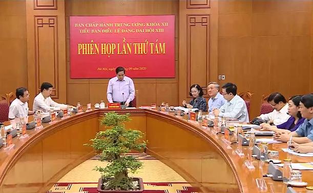 Tiểu ban Điều lệ Đảng Đại hội XIII họp phiên thứ 8 - Ảnh 1.
