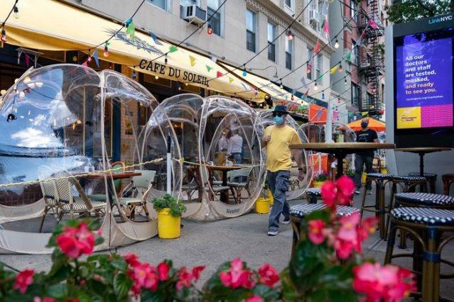 Ý tưởng 'bong bóng' cứu sống nhà hàng New York (Mỹ) trong mùa COVID - ảnh 2