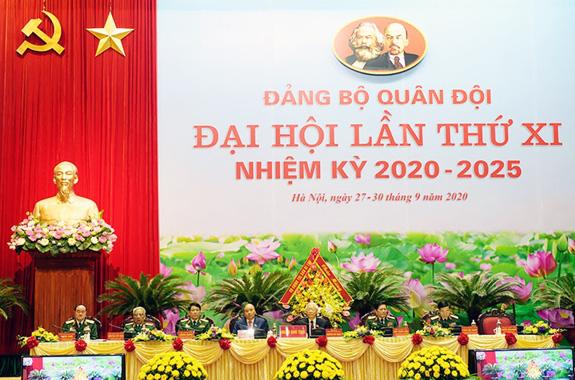 Khai mạc Đại hội đại biểu Đảng bộ Quân đội lần thứ XI, nhiệm kỳ 2020-2025 - ảnh 2