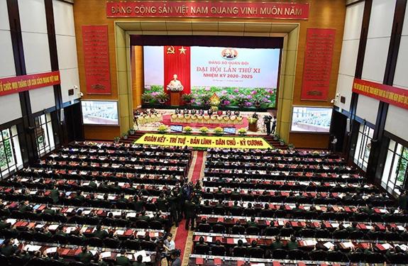 Khai mạc Đại hội đại biểu Đảng bộ Quân đội lần thứ XI, nhiệm kỳ 2020-2025 - ảnh 4