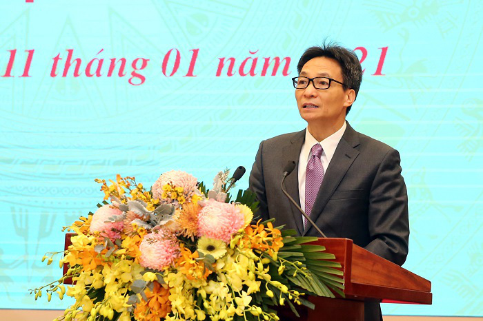 Deputy Prime Minister Vu Duc Dam speaks at the conference. (Photo: VGP)
